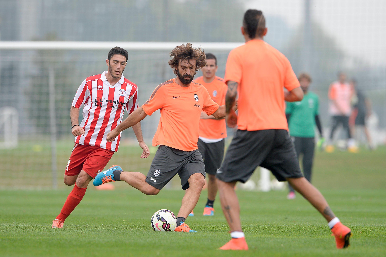 L'allenamento della Juventus con il Caravaggio