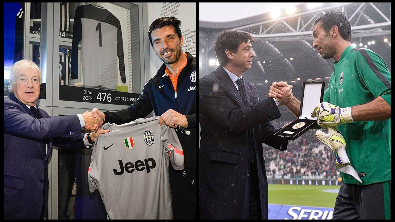 500 volte Buffon - Buffon joins 500 club