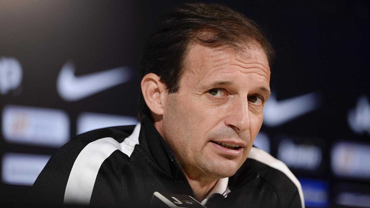 Lazio v Juventus. Allegri's pre-match press conference