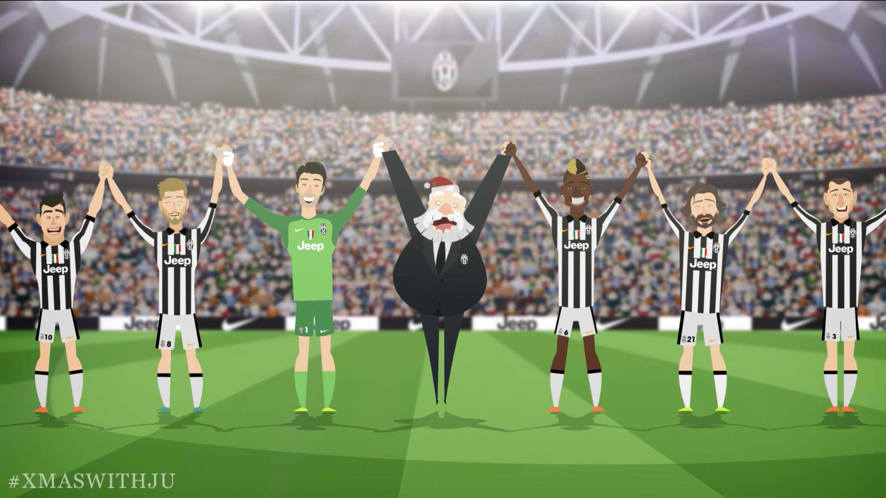 Juventus and Santa Claus spend Christmas together